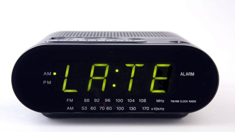 late alarm clock