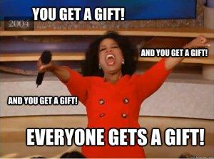Oprah presents meme